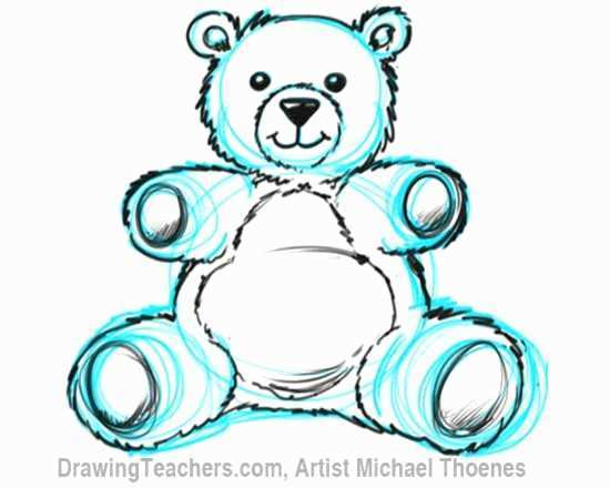 550x440 Teddy Bear Drawing Great How To Draw A Teddy Bear For Kids Step