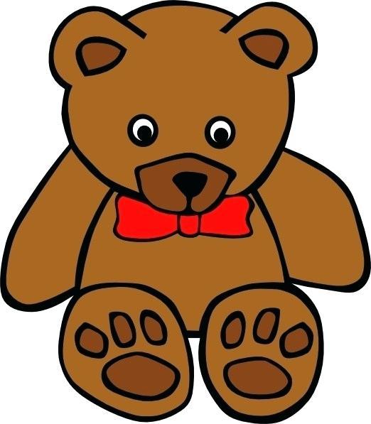 522x597 Bear Cartoon Drawing Cartoon Teddy Bear Bear Animated Drawing
