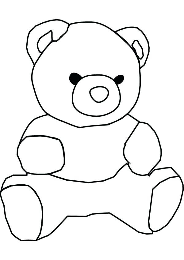 600x849 Draw A Teddy Bear