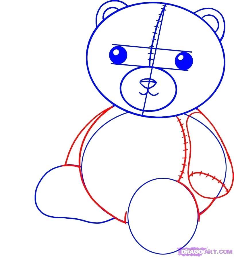815x898 Teddy Bear To Draw