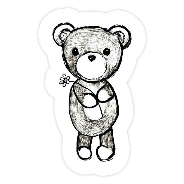 630x630 Cute Teddy Bears To Draw Adorable Teddy Bear Sticker Cute Teddy