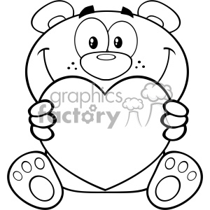 Teddy Bear Drawing With Heart