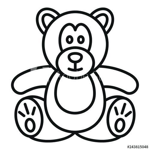 500x500 outline of a teddy bear teddy bear outline teddy bear template