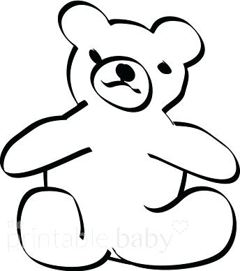 344x388 teddy bear outline teddy bear drawing dead teddy bear teddy bear