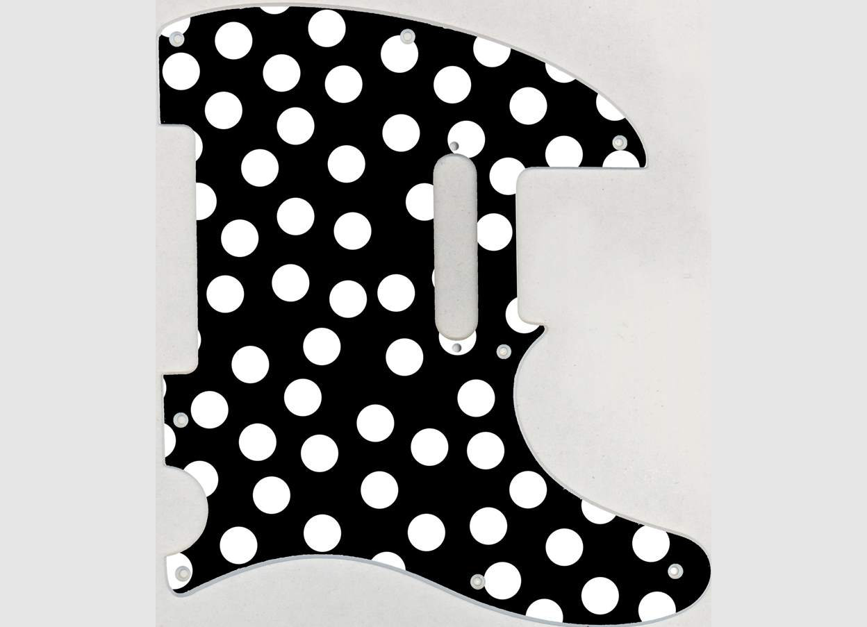 1248x903 custom graphical pickguard to fit fender tele telecaster polka etsy