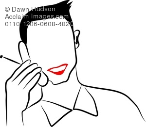 300x262 Clipart Illustration Of Simple Line Drawing Of A Portrait Of A Man