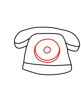 269x300 How To Doodle An Old Telephone