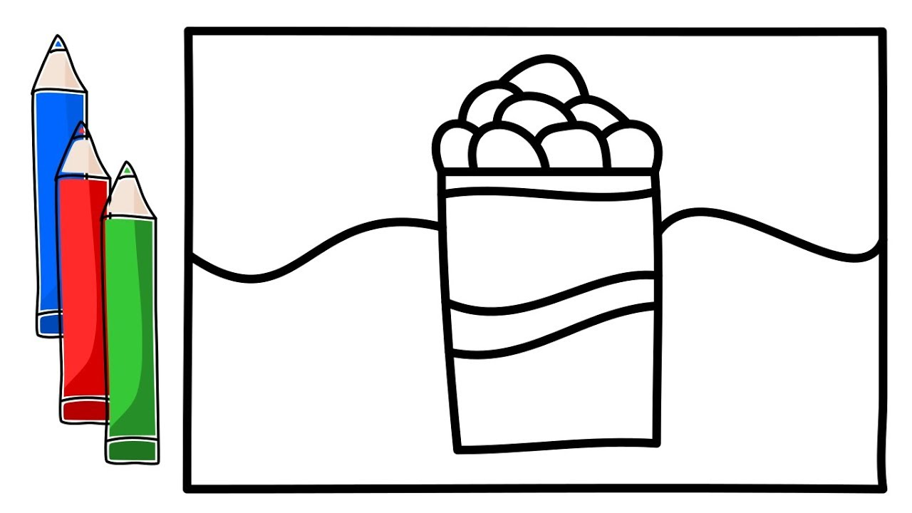 1280x720 How To Drawing And Coloring A Glass Ice Cream Telephone Cake