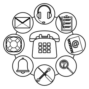 300x300 Telephone Assistance Icon With Assistant Tools Headset Checklist