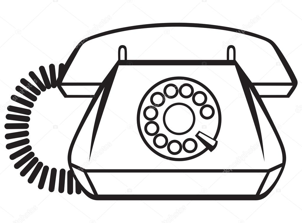 1024x757 Telephone Drawing Old Object For Free Download