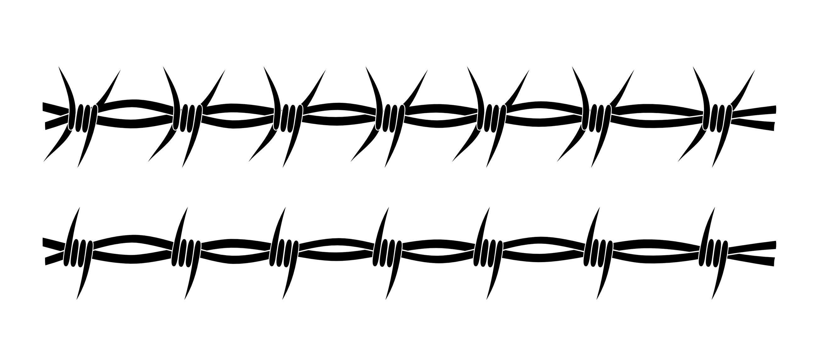 2629x1141 Barbed Wire Fence Line Drawing Vector Frame Dwg Autocad Something