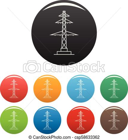429x470 telephone pole icons set color vector telephone pole icon