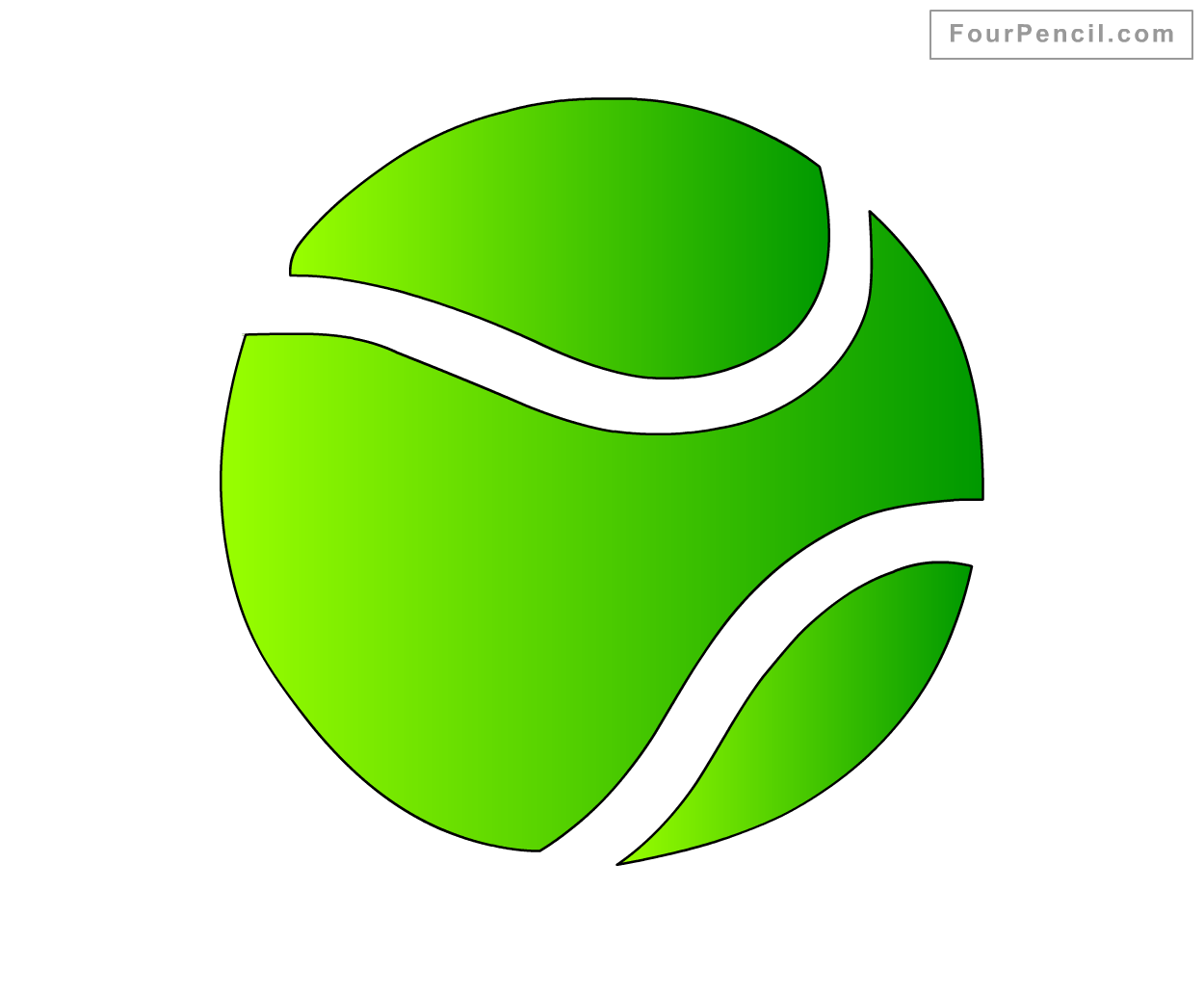 1250x1032 How To Draw Tennis Ball For Kids Step