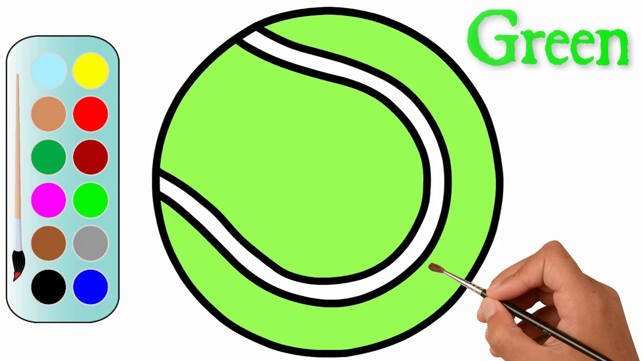 1280x720 How To Draw A Tennis Ball Step