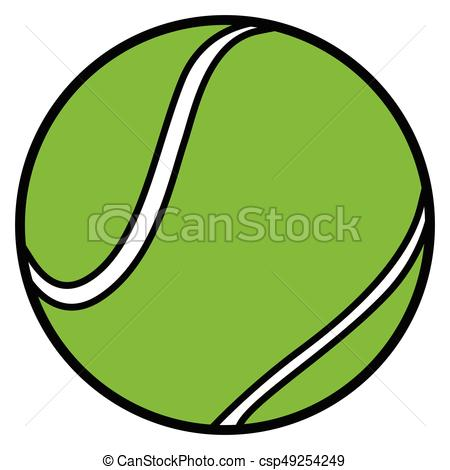 450x470 isolated tennis ball isolated comic tennis ball on a white