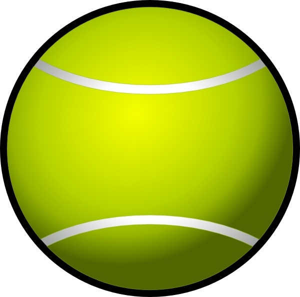 600x594 Simple Tennis Ball Clip Art Free Vector In Open Office Drawing