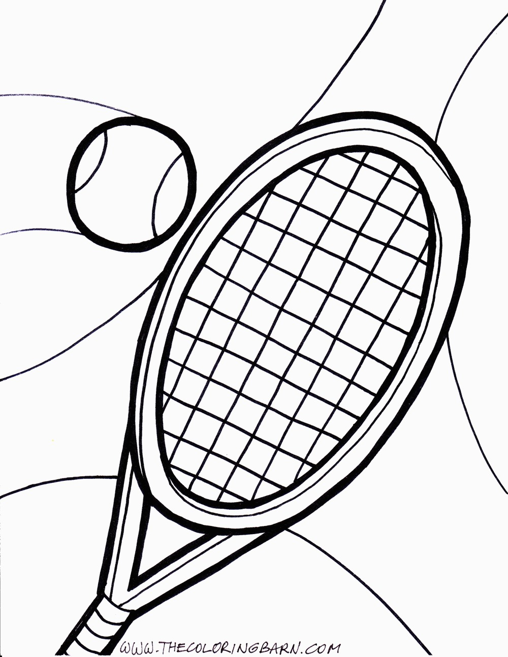 1000x1294 Tennis Ball Coloring Pages Printable For Tennis Coloring Pages