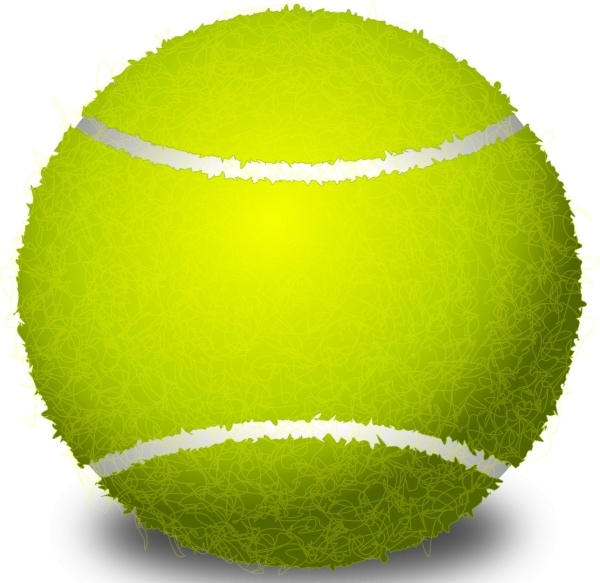 600x583 Tennis Ball Clip Art Free Vector In Open Office Drawing