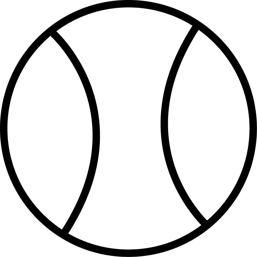 867x867 Tennis Ball Drawing Clipart