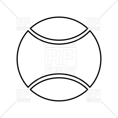 400x400 Tennis Ball Outline Vector Image Of Signs, Symbols, Maps