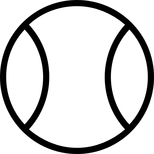 512x512 Tennis Ball Outlined Object Symbol