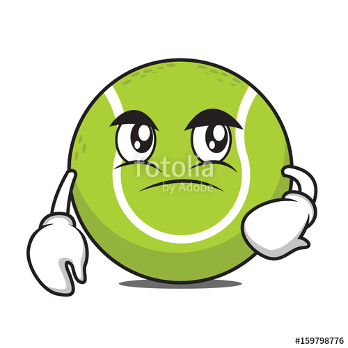 500x500 Confused Tennis Ball Cartoon Character Stock Image And Royalty