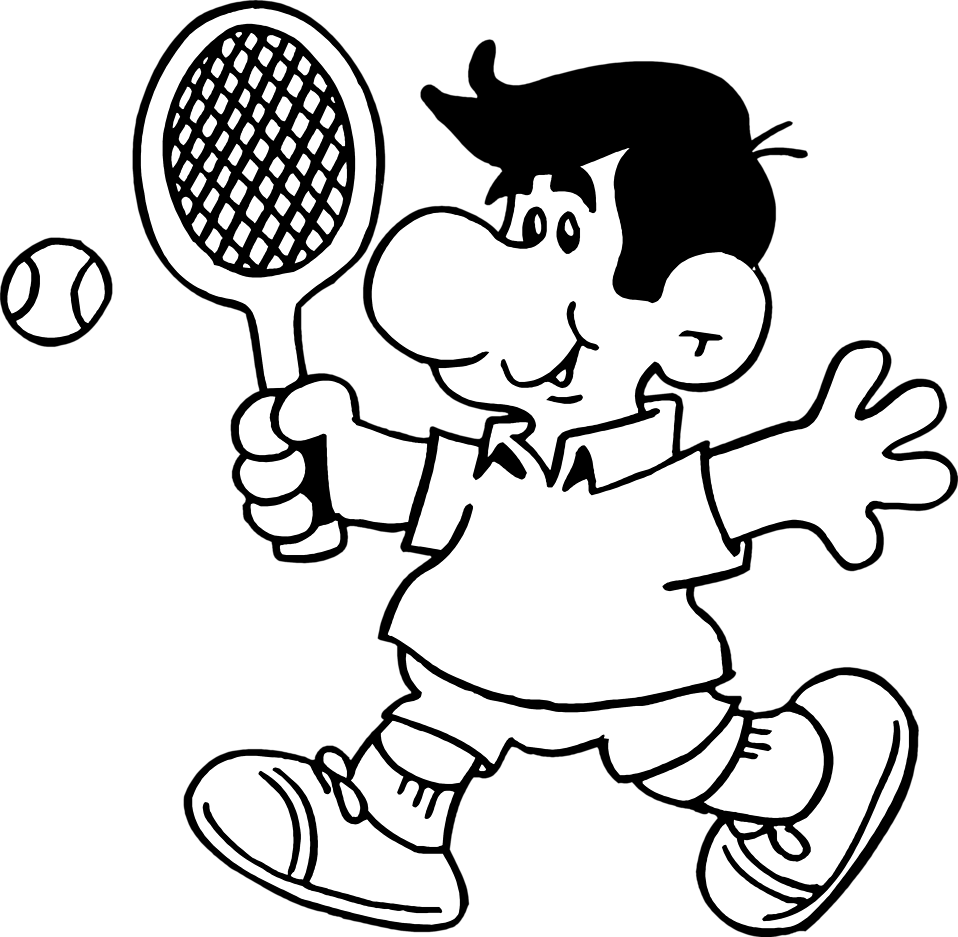 958x937 Drawing Sports Tennis Transparent Png Clipart Free Download