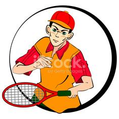 235x235 Drawing Of Tennis Man Player Symbol Stock Photos