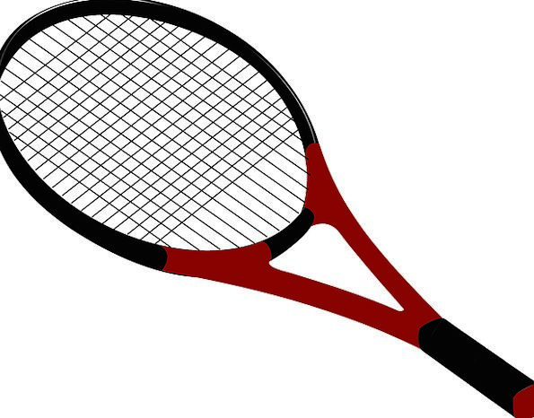 595x466 Tennis, Row, Drawing, Sketch, Racket, Squash, Isolated, Remote