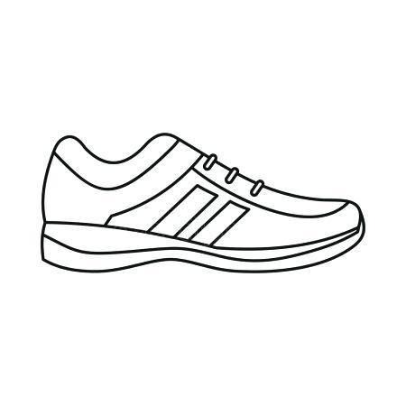 450x450 Tennis Shoe Outline Men Sneakers Icon Outline Style Tennis Shoe