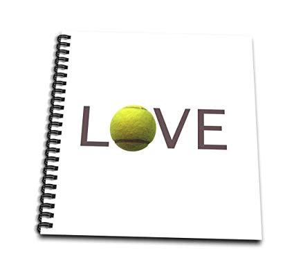 425x386 Db Love Text With Green Tennis Ball