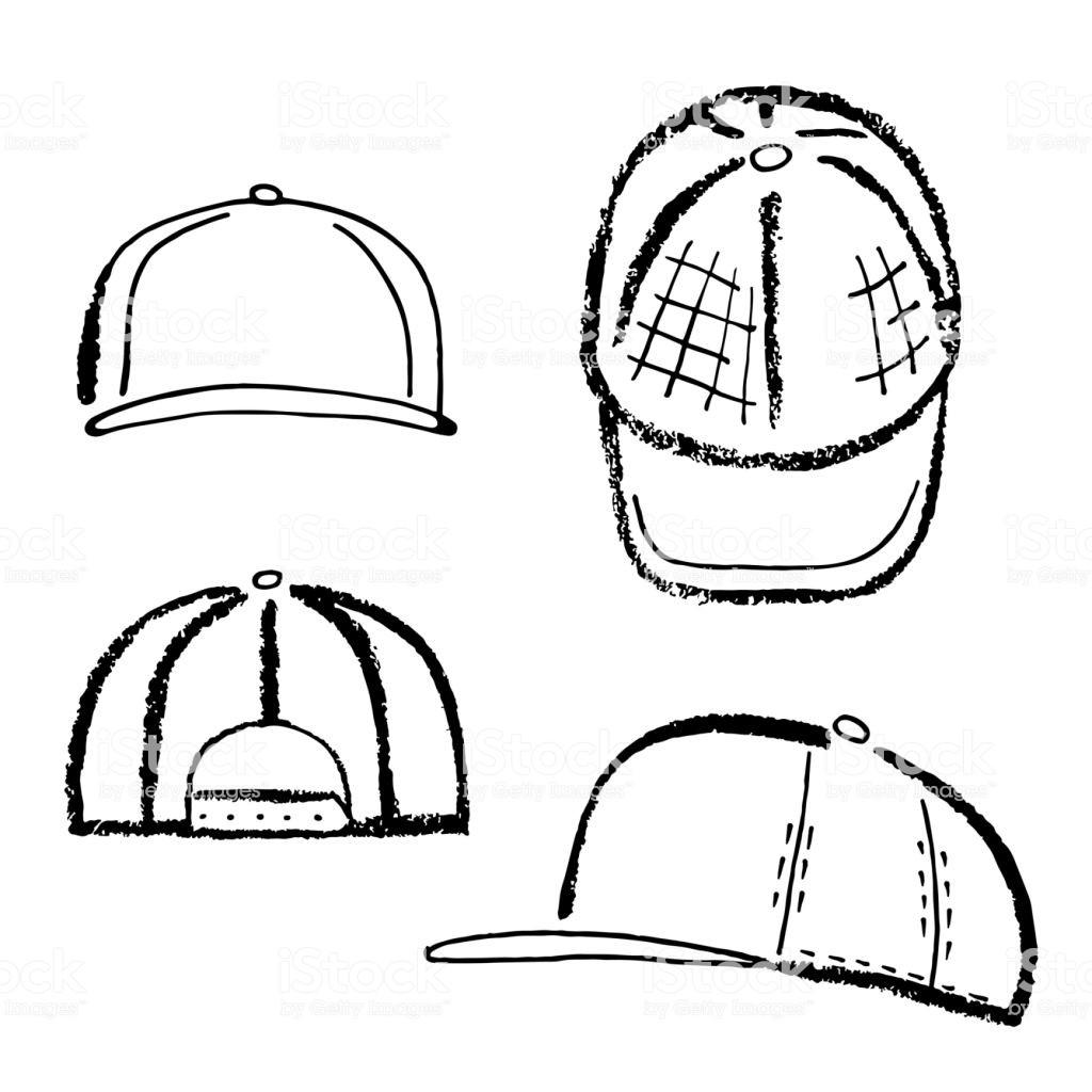 1024x1024 Baseball Sketch Drawing Vector Awesome Baseball Tennis Rap Cap