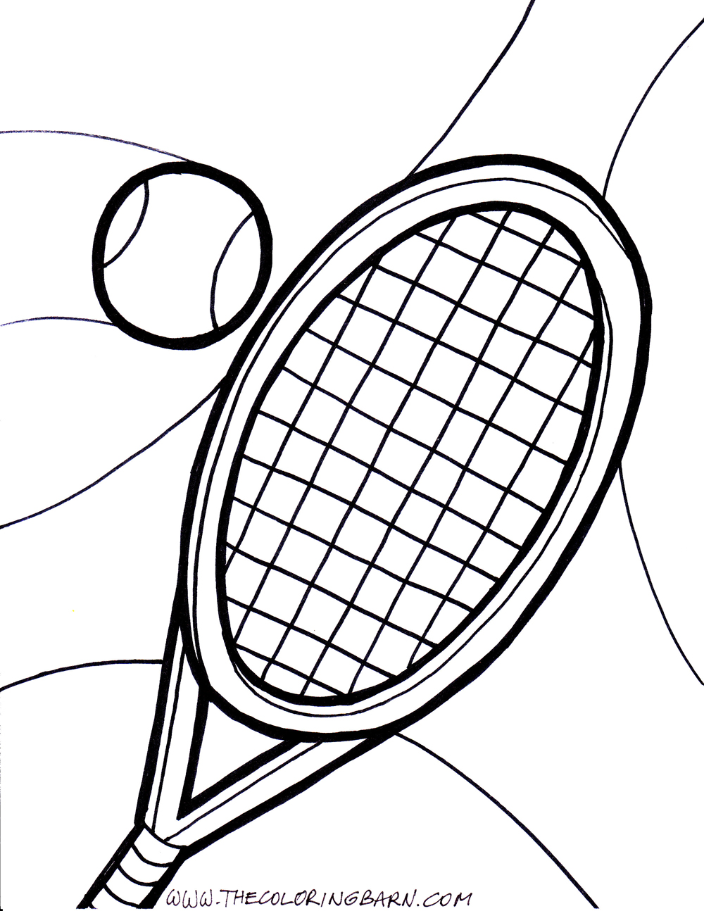 Tennis Player Drawing