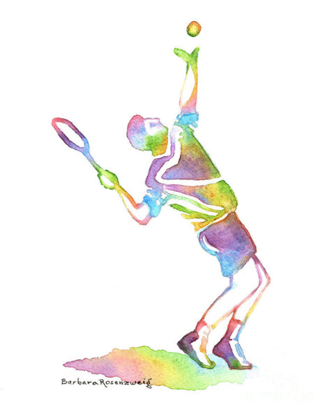 476x600 Tennis Player Painting
