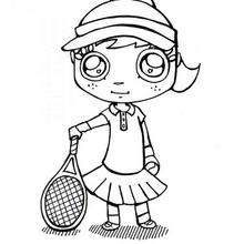220x220 Tennis Player Performing A Eastern Backhand Grip Coloring Pages
