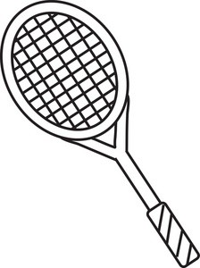 224x300 Black Tennis Racquet Md For Tennis Racket Clipart