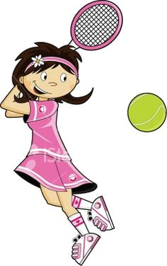 236x375 Drawing Of A Girl Playing Tennis Best Tennis Cartoon Images