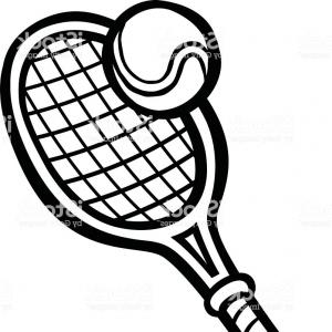 300x300 Tennis Racket And Ball Vector Clipart Soidergi