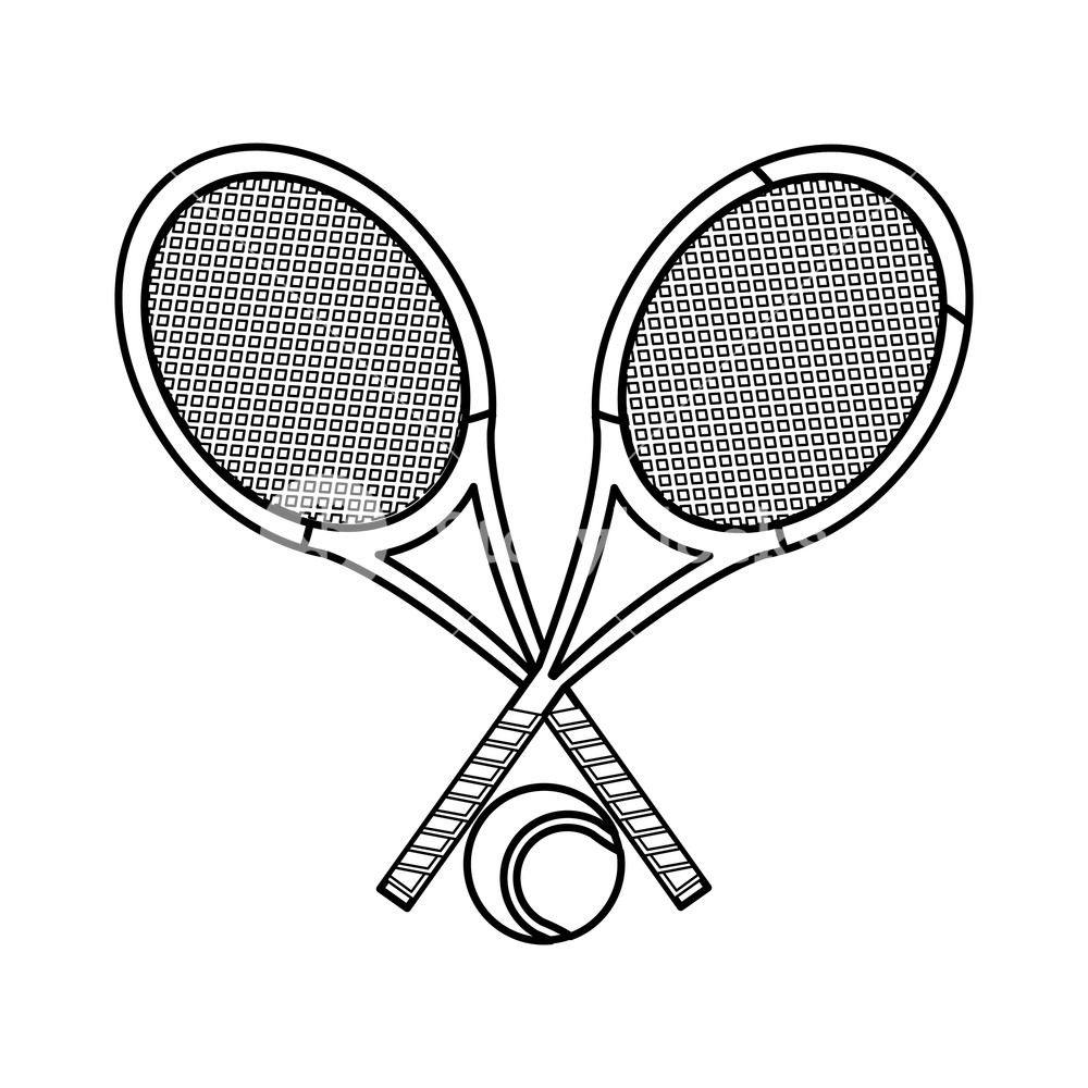 1000x1000 Tennis Racket Of Sport Competition And Game Theme Isolated Design