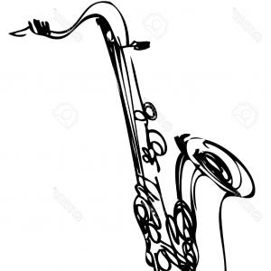 300x300 Photostock Vector Saxophone Music Jazz Vector Illustration Sax