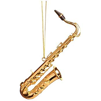 350x350 Gold Tenor Saxophone Ornament Home Kitchen