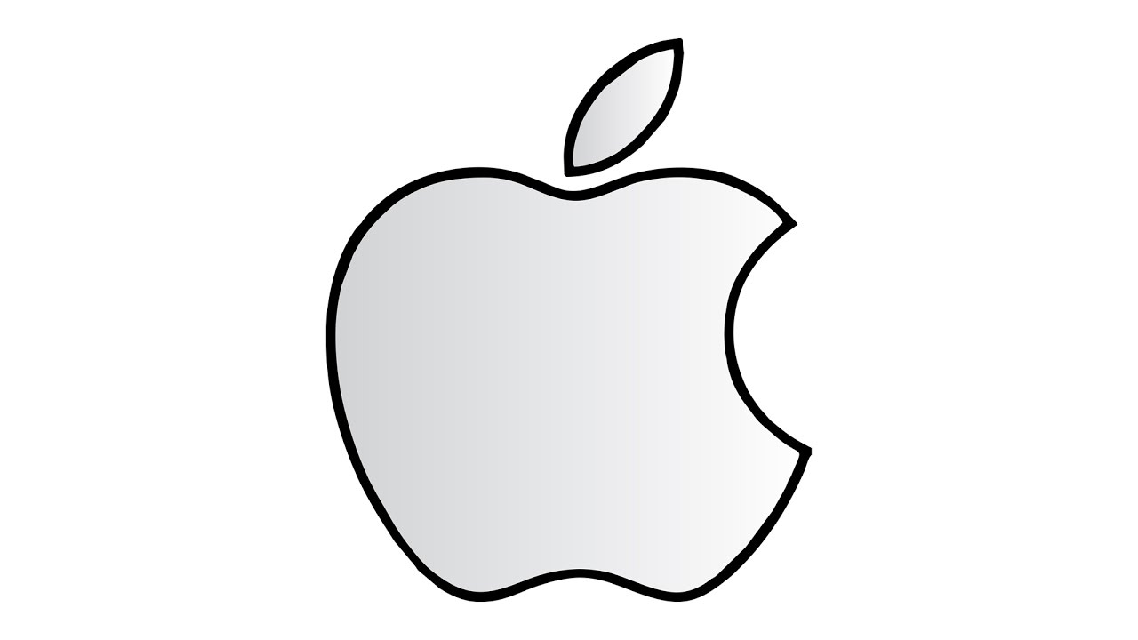 1280x720 How To Draw The Apple Logo