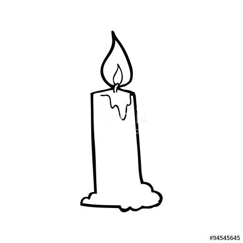 500x500 Candle Drawing Candle Drawing Color