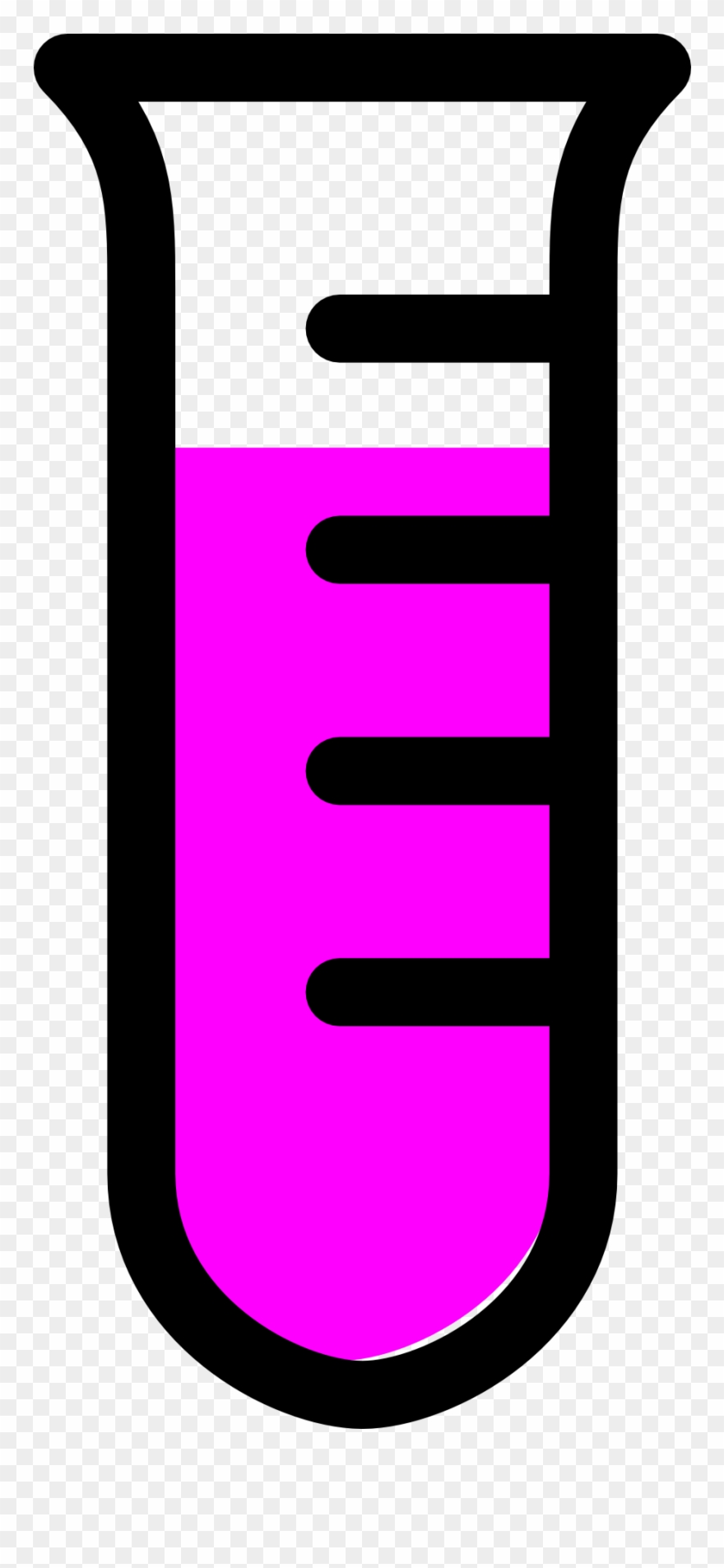 880x1905 Empty Test Tube Clipart