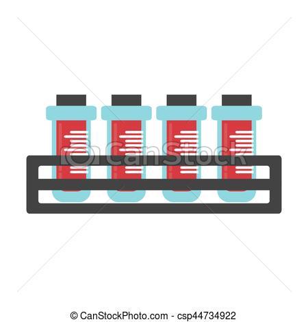 450x470 Blood Test Tube Sample With Rack Vector Illustration