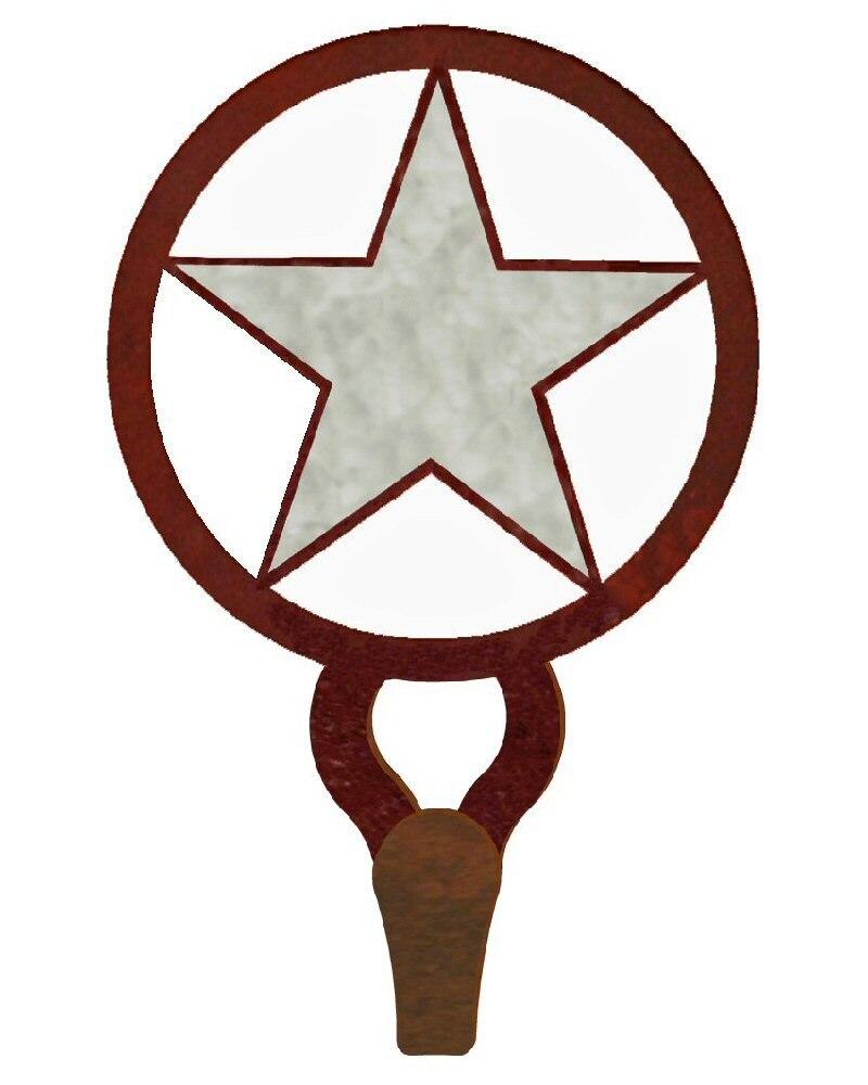 800x1000 texas star burnished large single metal wall hook