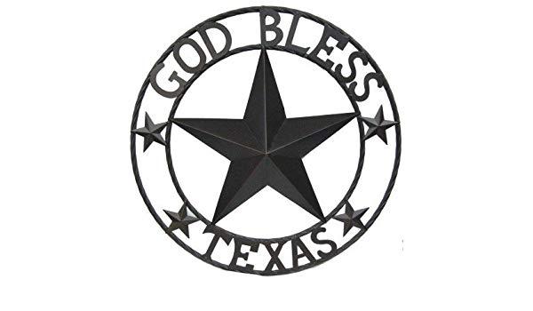 600x350 God Bless Texas Circle Wall Decor With Star Home