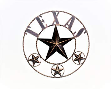 355x284 Home Metal Circle Texas Western Hanging Wall Plaques