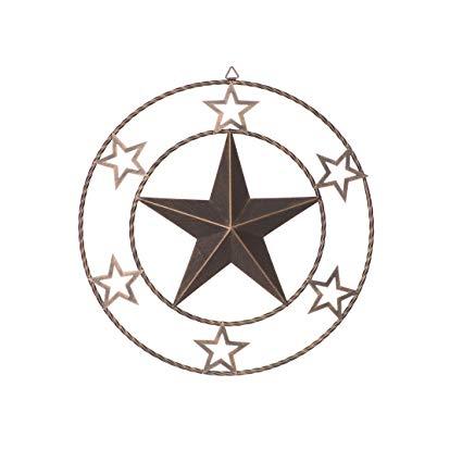 425x425 Rongxin Vintage Texas Metal Circled Star