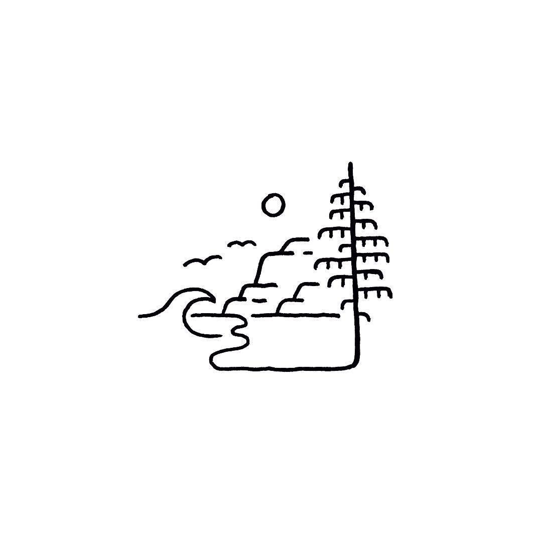 1080x1080 sea side doodles logos doodles, easy drawings, art